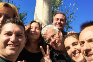 lab Becker selfie